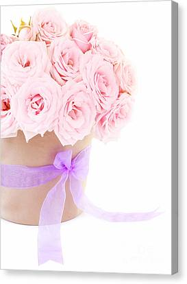 The Beauty Pink Roses Canvas Print by Boon Mee