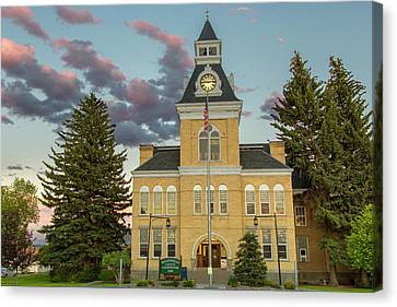 The Beaverhead County Courthouse Canvas Print by Chuck Haney