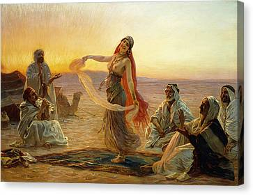 The Bedouin Dancer Canvas Print by Otto Pilny