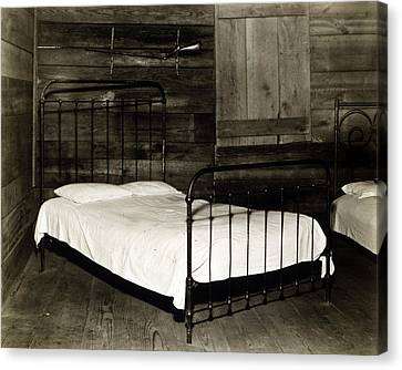 The Bedroom Of Floyd Burroughs, Cotton Canvas Print by Everett