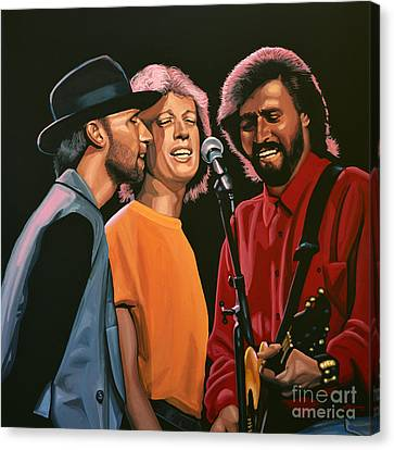 Trio Canvas Print - The Bee Gees by Paul Meijering