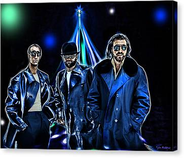 The Bee Gees Canvas Print by Tyler Robbins