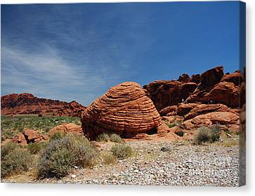 515p The Beehive In Valley Of Fire Canvas Print by NightVisions