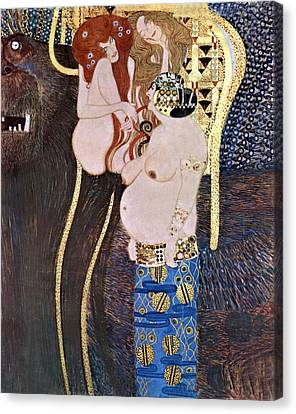 The Beethoven Frieze Canvas Print by Gustive Klimt