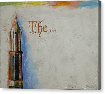 The Beginning Canvas Print by Michael Creese