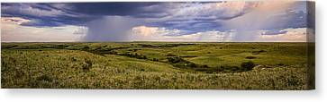 The Beginnings - Flint Hills Storm Pano Canvas Print