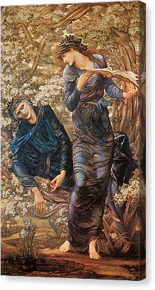 The Beguiling Of Merlin Canvas Print - The Beguiling Of Merlin by Sir Edward Burne-Jones