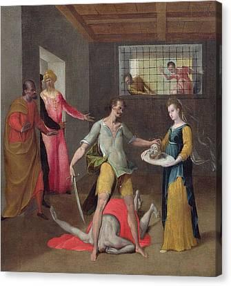 The Beheading Of St. John The Baptist Oil On Canvas Canvas Print by Italian School