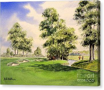 The Belfry Brabazon Golf Course 10th Hole Canvas Print by Bill Holkham