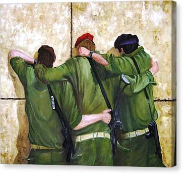 The Believers Canvas Print by Doris Cohen