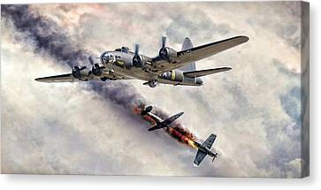 The Belle In Action Canvas Print