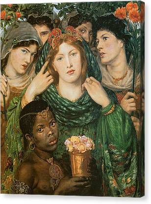 The Beloved-the Bride Canvas Print by Dante Gabriel Rossetti