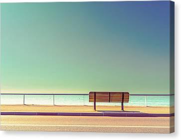 Empty Canvas Print - The Bench by Arnaud Bratkovic