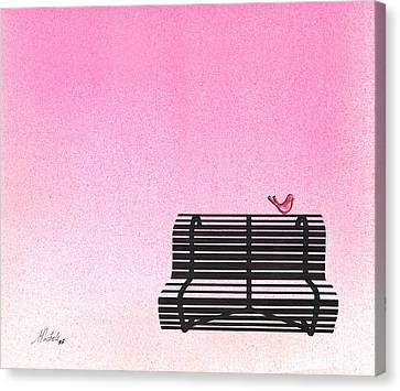 The Bench Canvas Print by Daniele Zambardi