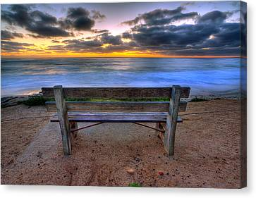 La Jolla Art Canvas Print - The Bench II by Peter Tellone