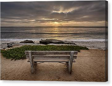 The Bench IIi Canvas Print by Peter Tellone