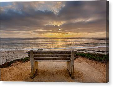 The Bench Iv Canvas Print by Peter Tellone
