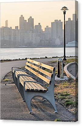 The Bench Canvas Print by JC Findley