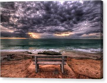The Bench - Lrg Print Canvas Print by Peter Tellone