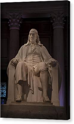 The Benjamin Franklin Statue Canvas Print by Bill Cannon