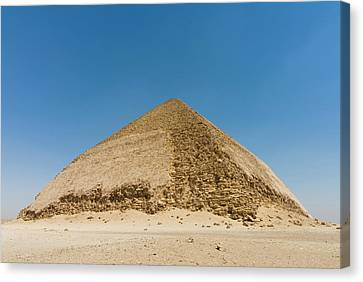 The Bent Pyramid Built By Old Kingdom Canvas Print by Nico Tondini