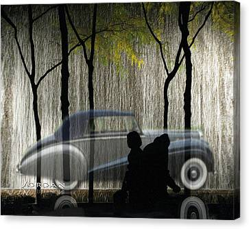 The Bently The People The Waterfall Canvas Print by David Jordan