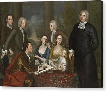 The Bermuda Group, Dean Berkeley And His Entourage, 1728 Canvas Print by John Smibert