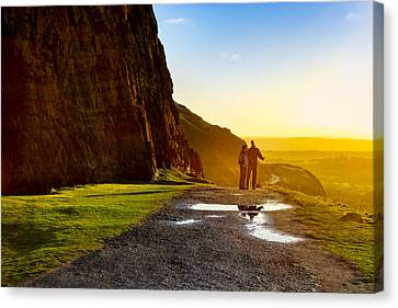 The Best Is Yet To Be - Edinburgh Canvas Print by Mark E Tisdale