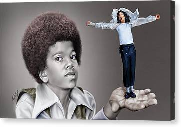 The Best Of Me - Handle With Care - Michael Jacksons Canvas Print by Reggie Duffie