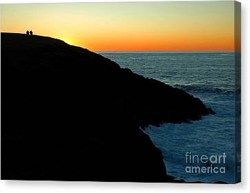 The Best Seats On The Oregon Coast Canvas Print by Nick  Boren