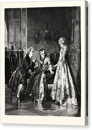 The Betrothal Canvas Print by Erdmann, Otto (1834-1905), German