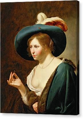 Decolletage Canvas Print - The Betrothal The Bride, C.1630 Pair Of 42407 by Jan van Bijlert or Bylert