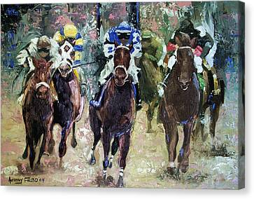The Bets Are On Canvas Print