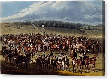 Race Canvas Print - The Betting Post, Print Made By Charles by James Pollard