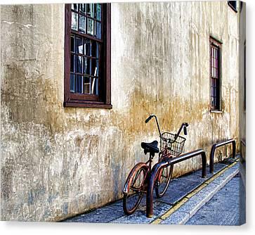 The Bicycle Canvas Print by Deborah Benoit