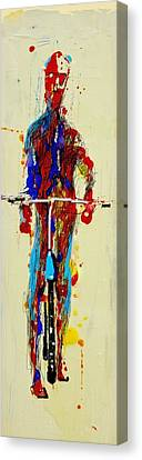 The Bicyclist Canvas Print by Jean Cormier