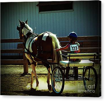 Canvas Print featuring the photograph The Big And The Tiny by Gena Weiser