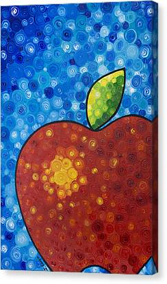 The Big Apple - Red Apple By Sharon Cummings Canvas Print by Sharon Cummings
