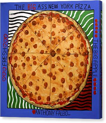 The Big Ass New York Pizza Canvas Print by Anthony Falbo
