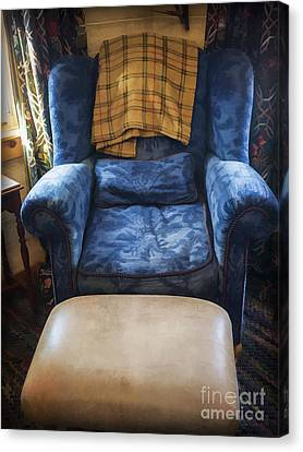 The Big Blue Chair - Oil Canvas Print by Edward Fielding