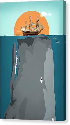 The Big Fish Canvas Print by Mark Ashkenazi