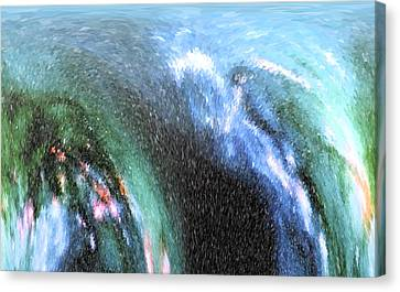 Canvas Print featuring the photograph The Big Wave by Mariarosa Rockefeller