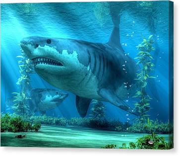 The Biggest Shark Canvas Print