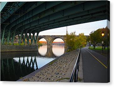 Kelly Drive Canvas Print - The Bike Path Along The Schuylkill River by Bill Cannon