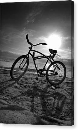 The Bike Canvas Print by Peter Tellone