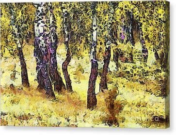 The Birch Forest Canvas Print by Odon Czintos