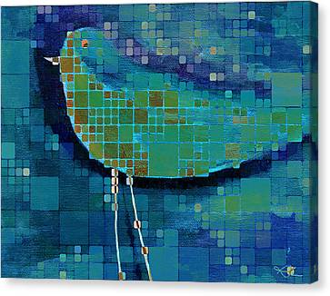The Bird - Mdsa03bll Canvas Print by Variance Collections