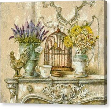 The Birdcage Canvas Print by Elizabeth Coats