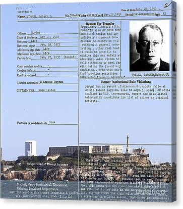 Alcatraz Canvas Print - The Birdman Of Alcatraz San Francisco 20130323v2 Square by Wingsdomain Art and Photography