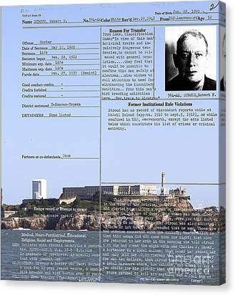 The Birdman Of Alcatraz San Francisco 20130323v2 Canvas Print by Wingsdomain Art and Photography
